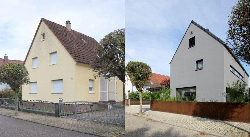 Architekten Lenzstrasse Dreizehn KA, Wohnhaus M, vorher-nachher